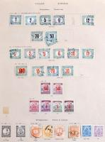 1900-1944 Kis magyar gyűjtemény jobb értékekkel előnyomott albumlapokon