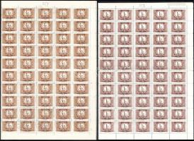 1958 Vörös-fekete portó II. kiadás sor hajtott 100-as ívekben (5.000)