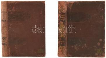 Corpus Juris Hungarici 1875-76; 1882-83. kötetek. 2 db. Sérült, megviselt kötésben