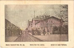 1915 Lódz, Dworzec Kolei Fabr. Lódzkiej / Bahnhof der Lodzer Fabrikbahn / Lódz Fabryczna railway station (EK)