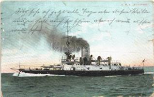 SMS Budapest osztrák-magyar Monarch-osztályú partvédő páncélosa / K.u.K. Kriegsmarine / Austro-Hungarian Navy SMS Budapest Monarch-class coastal defense ship + Feldpost (EB)