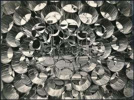 cca 1975 Gáspár Attila: Játék, feliratozott vintage fotóművészeti alkotás, 18x24 cm
