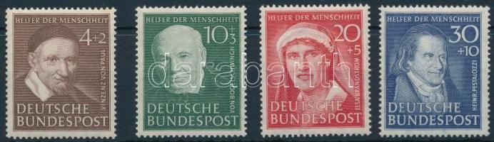 NSZK 1951 Jótékonyság Mi 143-146 (Mi EUR 140.-)
