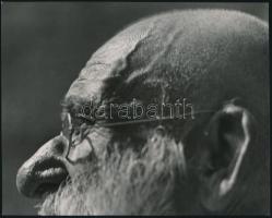 cca 1935 Reich Péter Cornel (?-?) budapesti fotóművész hagyatékából pecséttel jelzett, vintage fotóművészeti alkotás (fél fej), 17,2x21,6 cm