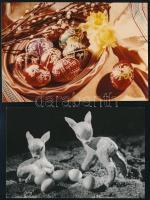 cca 1964 Dr. Csörgeő Tibor (1896-1968) budapesti fotóművész hagyatékából, 4 db vintage fotó, pecséttel jelzett képeslap tervek, 14x9 cm és 10x14,8 cm
