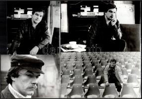 cca 1985 Koltay Gábor (1950) filmrendezőről készült 4 db vintage fotó, 13x18 cm és 18x24 cm között