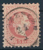 1867 5kr vonalkázott fejképalap B(ER)ZENCZE (Gudlin 300 pont)