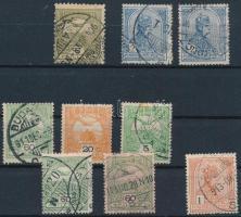 9 db Turul bélyeg