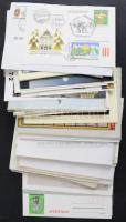 100 db különböző képeslap, levél, díjjegyes boríték stb