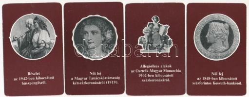 1978. Az Országos Takarékpénztár 1978-as évre készített 9 darab különféle zsebnaptárja, hátlapjukon bankjegyekkel kapcsolatos érdekességekkel