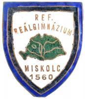 ~1920-1930. Református Reálgimnázium Miskolc 1560 zománcozott Br iskolajelvény (33x40mm) T:2