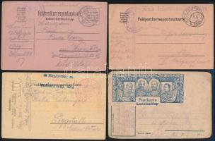 Magyar és külföldi 1. és 2. világháborús tábori posták + 1 osztrák küldemény, összesen 10 db