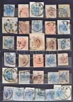 Ausztria 1850-1867 273 db klasszikus bélyeg és kivágás 8 lapos közepes berakóban