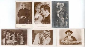 25 db RÉGI külföldi motívum képeslap: színészek / 25 pre-1945 motive postcards: actors and actresses