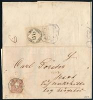 10kr I on cover and 15kr fiscal stamp on the backside