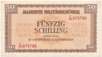 Ausztria / Szövetséges megszállás 1944. 50Sch T:I-,II Austria / Allied occupation 1944. 50 Schilling C:AU,XF  Krause 109