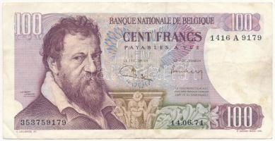 Belgium 1971. 100Fr T:III  Belgium 1971. 100 Francs C:F