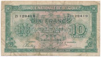 Belgium 1943. 10Fr T:III Belgium 1943. 10 Francs C:F