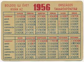 1956. Országos Takarékpénztár fém kártyanaptár