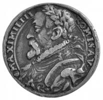 Ausztria 1570. MAXIMILIN ROMISAV / DOMINVS PROVIDEBIT 1570 kétoldalas, öntött Ag emlékérem (8,56g/24mm) T:2- / Austria 1570. MAXIMILIN ROMISAV // DOMINVS PROVIDEBIT 1570 double-sided cast Ag commemorative medallion (8,56g/24mm) C:VF