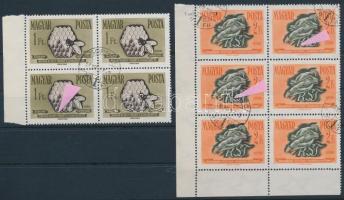 1958 Takarékosság és biztosítás 3 db lemezhibás bélyeg (8.600) / 3 stamps with plate variety
