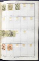 1881-1899 Sok példányos tétel, több mint 1.100 db bélyeg közte jobb értékek, összefüggések, szép / olvasható bélyegzések 3 db cserefüzetben