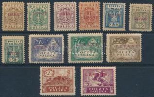 Lengyel posta Levant 1919 Mi 1-12 (12 törött / folded) (Mi EUR 2.400.-) Garancia nélkül / no guarantee