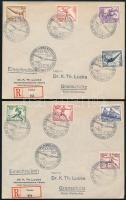 Deutsches Reich 1937 Berlini olimpia sor 2 ajánlott levélen repülőmodell-bajnokság alkalmi bélyegzéssel