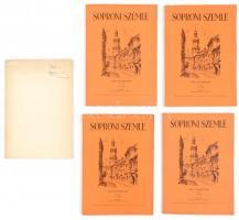 Prőhle Jenő: Petőfi költészete és szelleme a soproni evangélikus líceumban a kiegyezésig. Dedikált különlenyomat a Soproni szemléből + A Soproni szemle 1962-es számai.