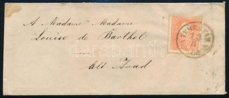 ~1860 Centrált levél 5kr bérmentesítéssel TEMESVÁR / Vorst.Fabrik - ARAD