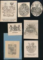 7 db régi címer, metszet (1 db klisé), papír