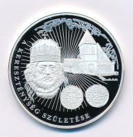 DN A magyar pénz krónikája - A kereszténység születése Ag emlékérem tanúsítvánnyal (20g/0.999/38,61mm) T:PP