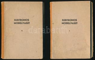 Petrik Ottó: Elektromos modellvasút I.-II. kötet. Bp., 1957. Táncsics kiadó. 83p. + 79p. + ábrák, Kiadói papírkötés, kissé kopott borítóval, lapok teteje és laja kissé foltos.