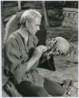 1948 Sir Laurence Oliver, vintage filmfotó feliratozva, 22,3x18 cm