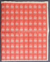 22 db hajtott teljes ív, közte fél ívek is az 1940-es évekből (fogelválások / aparted perfs.)