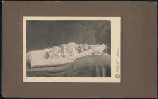 cca 1909 Munkács, Isocker István fényképész műtermében készült, keményhátú vintage fotó, 16,8x26,8 cm
