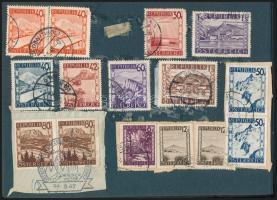 Kis vegyes tétel, magyar és külföldi, régi és modern bélyegek, levelek, néhány FDC