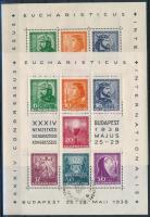 1938 Eucharisztikus 2 db blokk alkalmi bélyegzéssel (18.000)