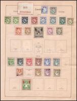 Zanzibár gyűjtemény az 1890-es 1950-es évekből, 133 db nagyrészt különféle bélyeg albumlapokon