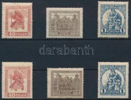 1920 Hadifogoly 2 db sor (min. 4.400) (40f 1 bélyegen részleges gumihiány / partly missing gum)