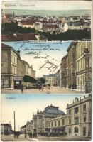 Ceské Budejovice, Budweis; Radetzkystrasse, Bahnhof, Klösterle Sauerbrunn / street, railway station, advertisement (EK)
