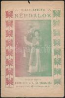 cca 1920 Eredeti népdalok Kronisch és Társa. 16p.