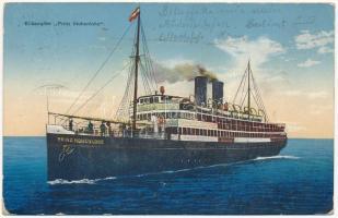 1915 Eildampfer Prinz Hohenlohe / SS Prinz Hohenlohe Austro-Hungarian cargo ship. G. C. Pola 1915. + K.u.K. Festungsartillerieregiment Graf Colloredo-Mels 2. Feldkompagnie (wet damage)