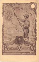 1883 Turnverein Tulln RVG. Gut Heil. Art Nouveau s: Fritz Papke (EK)