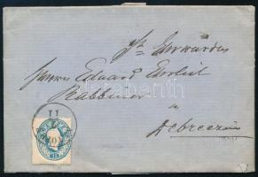 1861 15kr levélen ALTOFEN - DEBRECZIN