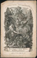XVIII. sz. vége. IV. Lajos, Szűz Mária rézmetszetű szentkép. 16x10 cm