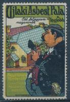 1912 Ujlaki Asbest Pala a legjobb, levélzáró reklám címke ,ritka!