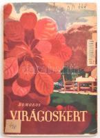 Domokos János: Virágoskert. Bp., 1955, Mezőgazdasági Kiadó. Szerk.: Gonda Pál, illusztrációk: Balogh András. Kissé szakadt papírkötésben.