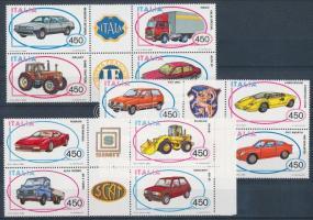 1984-1986 Autók I-II-III. sor szelvényes 4-es tömbökben Mi 1872-1875 + 1912-1915 + 1980-1983