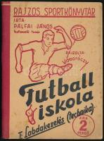 Pálfai János: Futballiskola I. Labdakezelés (technika). Rajzos sportkönyvtár. Kiadói papírkötés, kissé foltos, jó állapotban